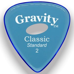 Gravity Picks GCLS2PE Classic Standard 2.0mm Polished w/ Elipse Blue