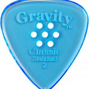 Gravity Picks GCLS2PM Classic Standard 2.0mm Polished w/ Multi-Hole Blue