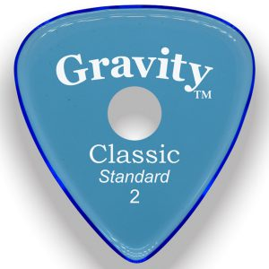 Gravity Picks GCLS2PR Classic Standard 2.0mm Polished w/ Round Hole Blue