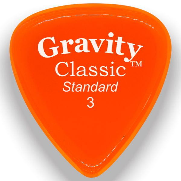 Gravity Picks GCLS3M Classic Standard 3.0mm Master Orange