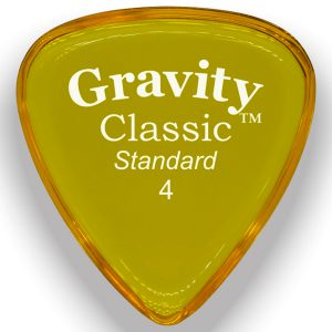 Gravity Picks GCLS4P Classic 4.0mm Standard Polished Yellow