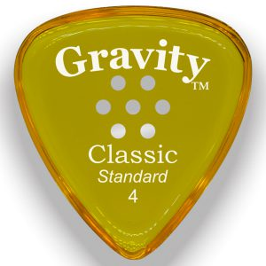 Gravity Picks GCLS4PM Classic Standard 4.0mm Polished w/ Multi-Hole Yellow