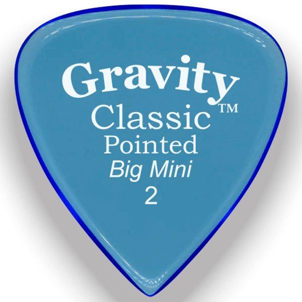 Gravity Picks GCPB2P Classic Pointed Big Mini 2.0mm Polished Blue