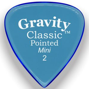 Gravity Picks GCPM2P Classic Pointed Mini 2.0mm Polished Blue