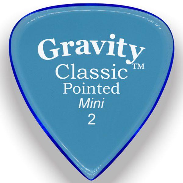 Gravity Picks GCPM2P Classic Pointed Mini 2.0mm Polished Blue