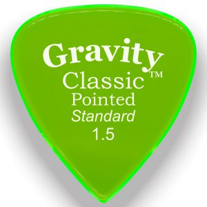 Gravity Picks GCPS15M Classic Pointed Standard 1.5mm Master Fl. Green