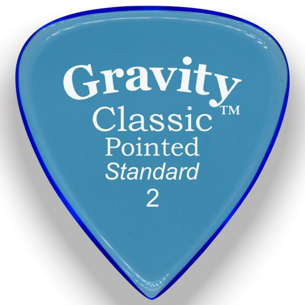Gravity Picks GCPS2M Classic Pointed 2.0mm Standard Master Blue