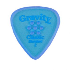 Gravity Picks GCPS2MM Classic Pointed Standard 2.0mm Master w/ Multi-Hole Blue