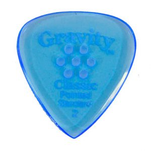 Gravity Picks GCPS2PM Classic Pointed Standard 2.0mm Polished w/ Multi-Hole Blue