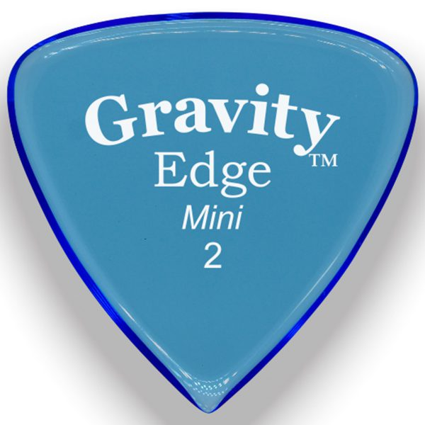 Gravity Picks GEEM2P Edge 2.0mm Mini (Jazz) Polished Blue