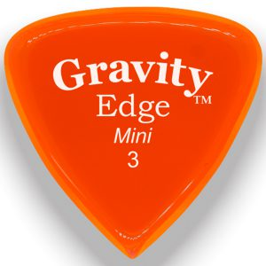Gravity Picks GEEM3P Edge 3.0mm Mini (Jazz) Polished Orange