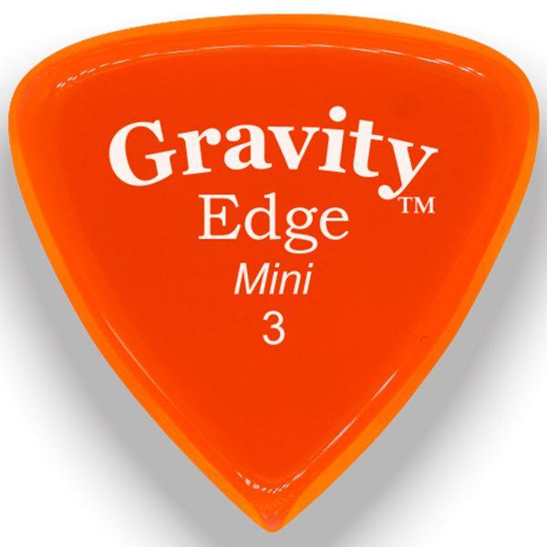 Gravity Picks GEEM3P Edge 3.0mm Mini (Jazz) Polished Orange
