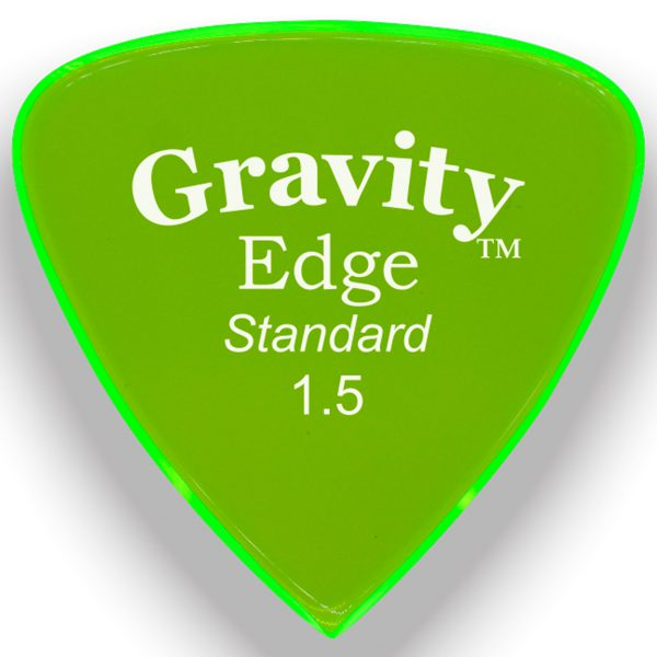 Gravity Picks GEES15P Edge Standard 1.5mm Polished Fl. Green