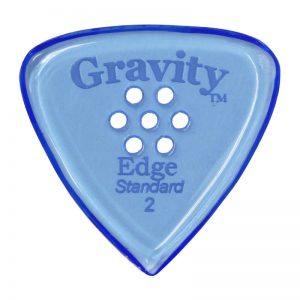Gravity Picks GEES2PM Edge Standard 2.0mm Polished w/ Multi-Hole Blue