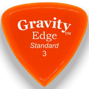 Gravity Picks GEES3P Edge 3.0mm Standard Polished Orange