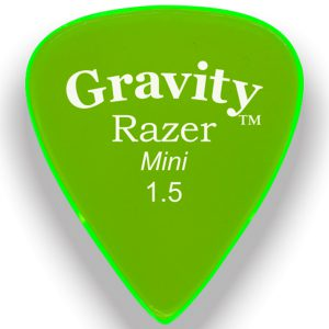 Gravity Picks GRAM15M Razer 1.5mm Mini (Jazz) Master Green