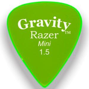 Gravity Picks GRAM15P Razer 1.5mm Mini (Jazz) Polished Green