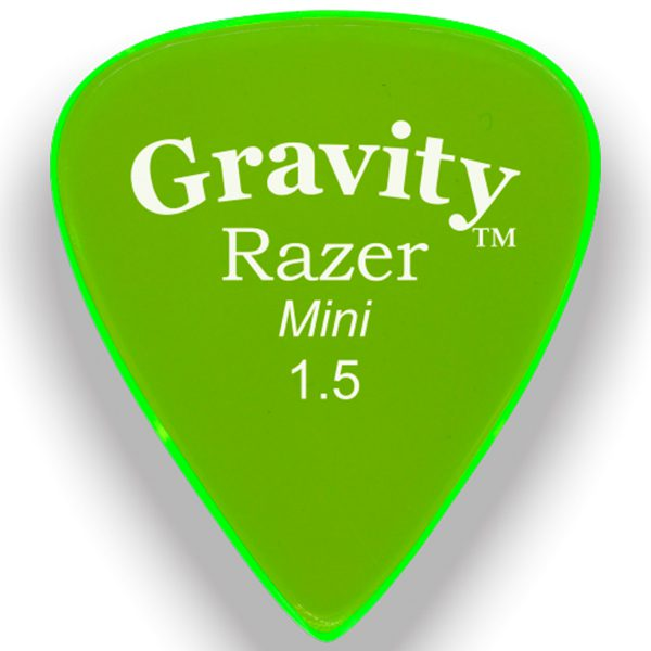 Gravity Picks GRAM15P Razer 1.5mm Mini (Jazz) Polished Green