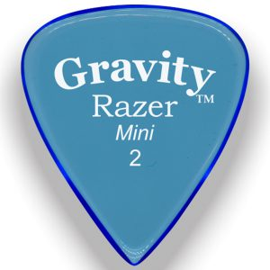 Gravity Picks GRAM2M Razer 2.0mm Mini (Jazz) Master Blue