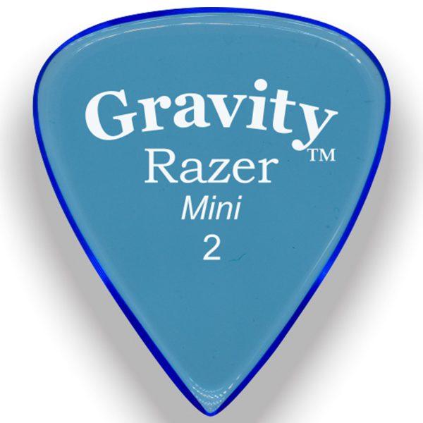 Gravity Picks GRAM2P Razer 2.0mm Mini (Jazz) Polished Blue