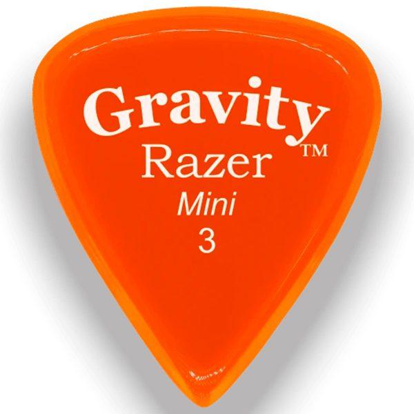 Gravity Picks GRAM3P Razer 3.0mm Mini (Jazz) Polished Orange