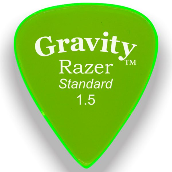 Gravity Picks GRAS15M Razer 1.5mm Standard Master Green