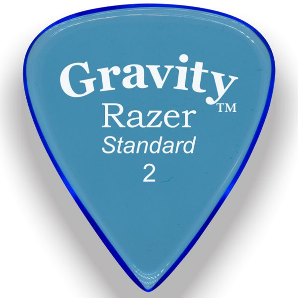 Gravity Picks GRAS2M Razer 2.0mm Standard Master Blue