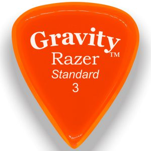Gravity Picks GRAS3P Razer 3.0mm Standard Polished Orange