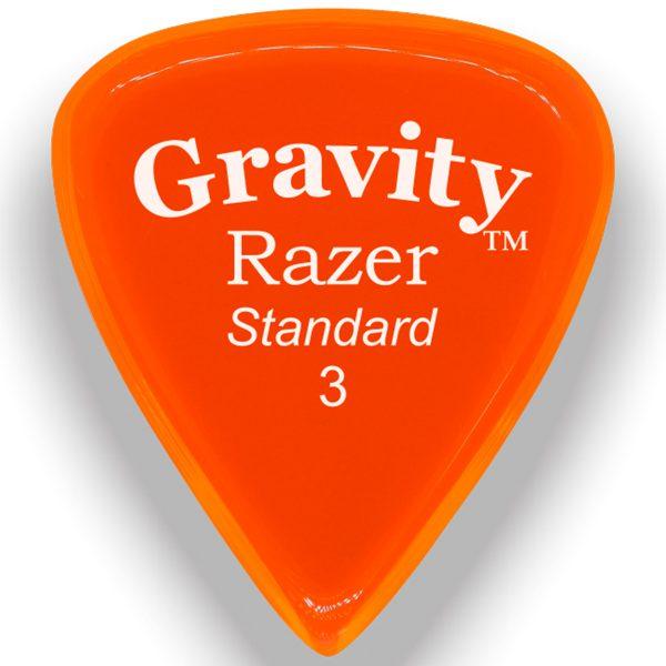 Gravity Picks GRAS3P Razer 3.0mm Standard Polished Orange