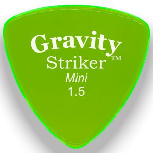 Gravity Picks GSRM15M Striker 1.5mm Mini (Jazz) Master Green