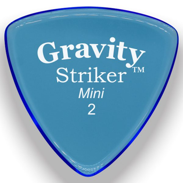 Gravity Picks GSRM2M Striker 2.0mm Mini (Jazz) Master Blue