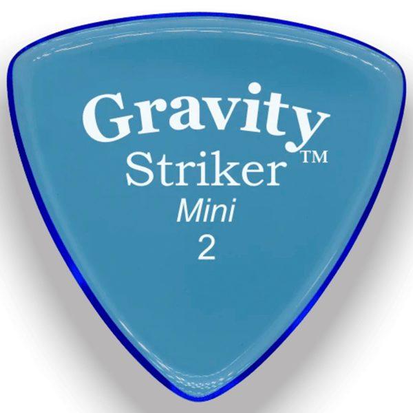Gravity Picks GSRM2P Striker 2.0mm Mini (Jazz) Polished Blue