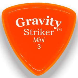 Gravity Picks GSRM3P Striker 3.0mm Mini (Jazz) Polished Orange