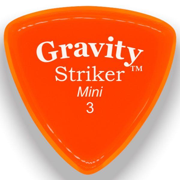 Gravity Picks GSRM3P Striker 3.0mm Mini (Jazz) Polished Orange