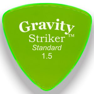 Gravity Picks GSRS15P Striker Standard 1.5mm Polished Fl. Green