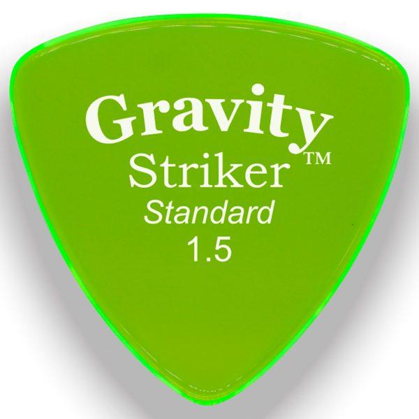 Gravity Picks GSRS15P Striker Standard 1.5mm Polished Fl. Green