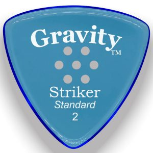 Gravity Picks GSRS2PM Striker Standard 2.0mm Polished w/ Multi-Hole Blue