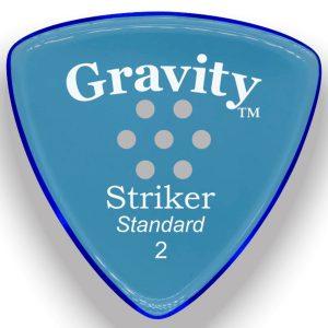 Gravity Picks GSRS2PM Striker Standard 2.0mm Polished w/ Multi-Hole Blue