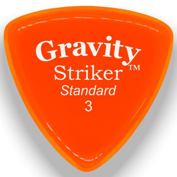 Gravity Picks GSRS3P Striker 3.0mm Standard Polished Orange