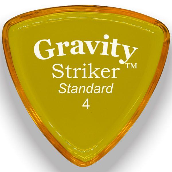 Gravity Picks GSRS4P Striker 4.0mm Standard Polished Yellow