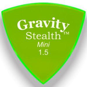 Gravity Picks GSSM15P Stealth 1.5mm Mini (Jazz) Polished Green