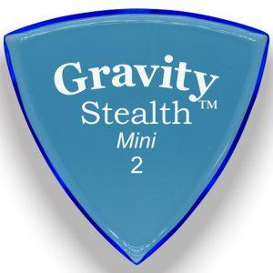 Gravity Picks GSSM2M Stealth 2.0mm Mini (Jazz) Master Blue