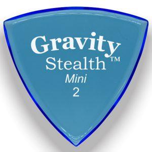 Gravity Picks GSSM2P Stealth 2.0mm Mini (Jazz) Polished Blue