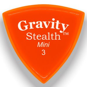 Gravity Picks GSSM3P Stealth 3.0mm Mini (Jazz) Polished Orange