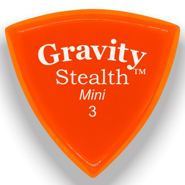 Gravity Picks GSSM3P Stealth 3.0mm Mini (Jazz) Polished Orange