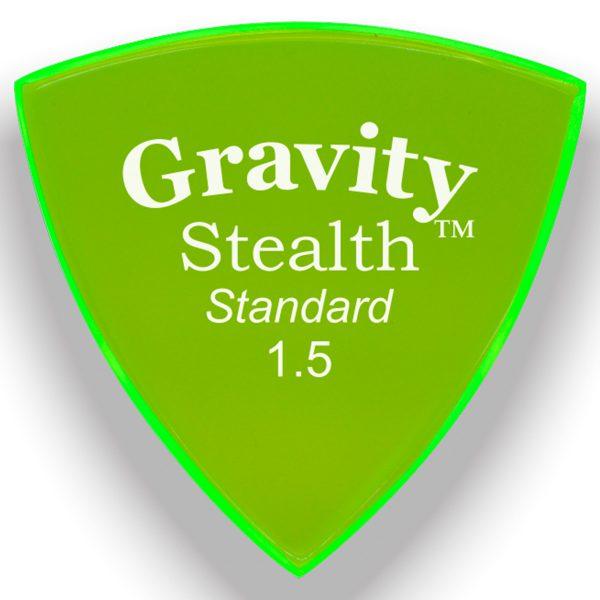 Gravity Picks GSSS15M Stealth 1.5mm Standard Master Green