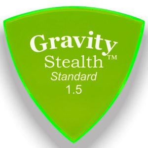 Gravity Picks GSSS15P Stealth Standard 1.5mm Polished Fl. Green