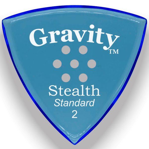 Gravity Picks GSSS2MM Stealth Standard 2.0mm Master w/ Multi-Hole Blue