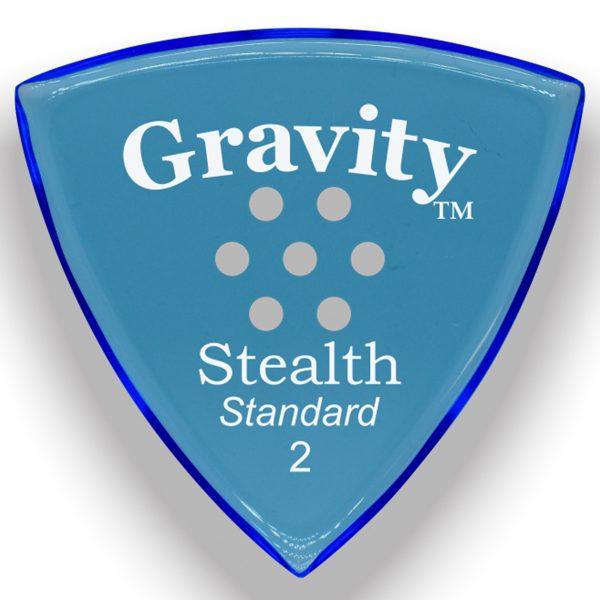 Gravity Picks GSSS2PM Stealth Standard 2.0mm Polished w/ Multi-Hole Blue