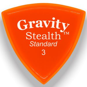 Gravity Picks GSSS3P Stealth 3.0mm Standard Polished Orange